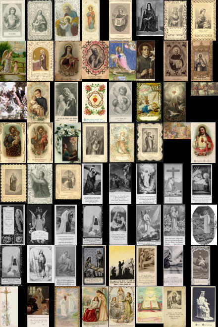 Antique Holy Cards volume 5 images