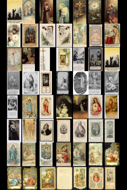 Antique Holy Cards volume 8 images